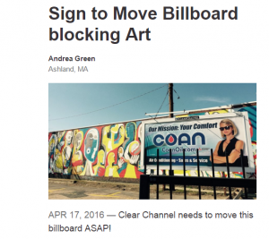 Petition to Remove Billboard from Downtown Framingham Mural