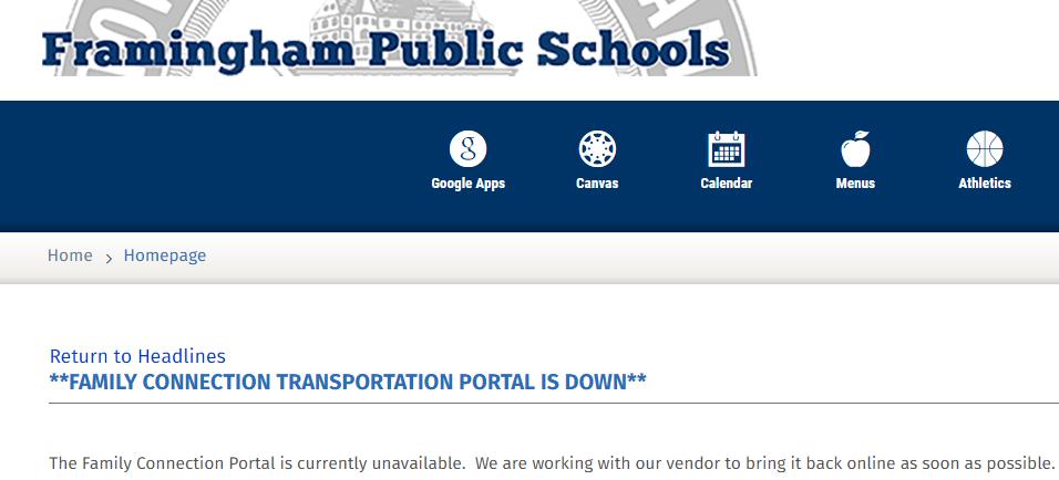 Weekend Before School Begins, Framingham Schools