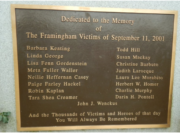 Town of Framingham To Host 9/11 Remembrance Ceremony