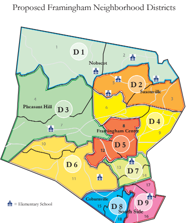 UPDATED Framingham Charter Commission Unveils Proposed 9 City