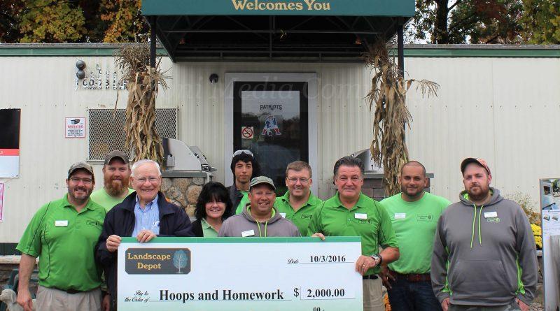 Landscape Depot Donates $2,000 to Hoops & Homework Program