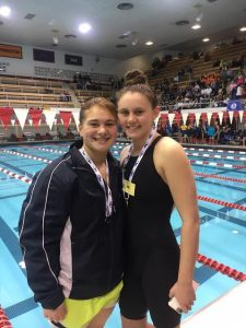 State champsions Halia Bower and Kara McCurdy. Photo by Mike Foley