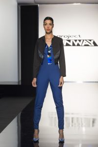 The look that eliminated Nathalia JMag on Project Runway. Photo Courtesy