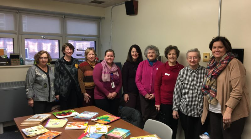 50a0f24ea PHOTOS  Callahan Knitters Create Book Buddies and Donate Books To Stapleton  Elementary Students