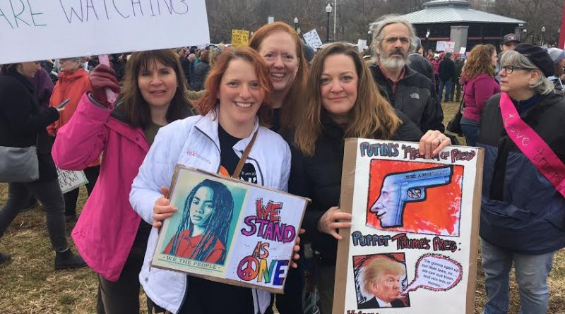 PHOTOS: Framingham Strongly Represented at Boston Women's March