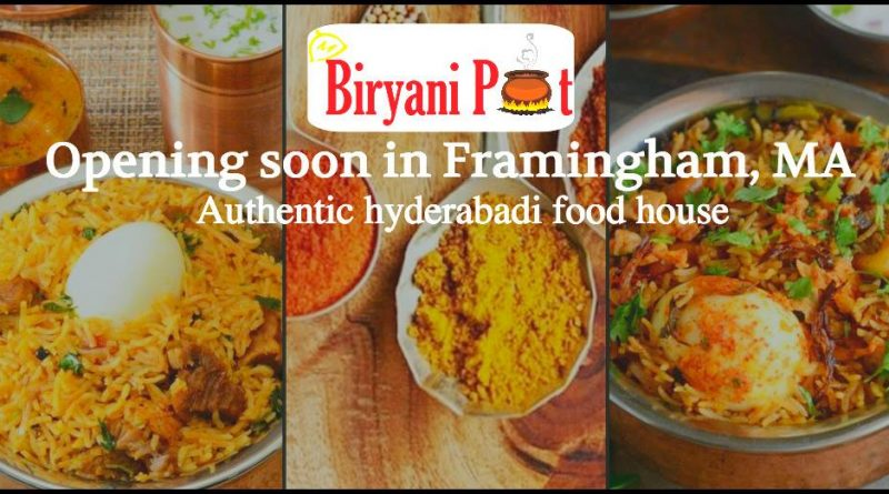 Biryani Pot Restaurant Coming To Route 9 In Framingham