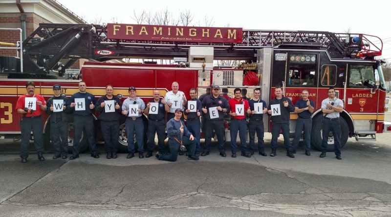 PHOTO OF THE DAY: Framingham Fire Supports #WhyNotDevin