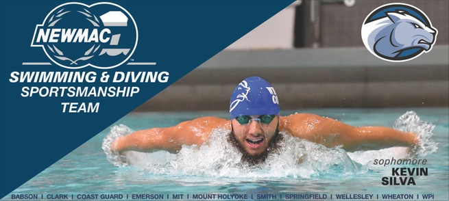 Swimmer Silva Named to NEWMAC Swimming All-Sportsmanship Team