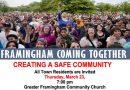Creating A Safe Community Forum Thursday Night in Framingham
