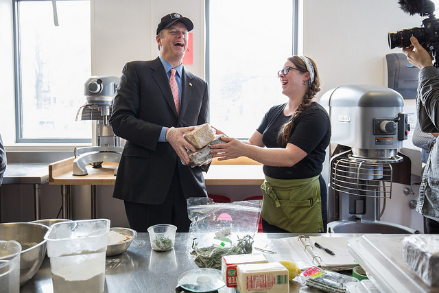 Governor Baker Tours CommonWealth Kitchen - Framingham Source
