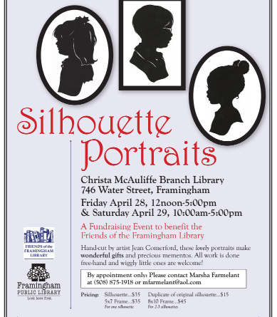 UPDATED: Silhouette Portrait Fundraiser To Benefit The Framingham Library
