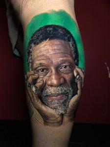 Framingham Man Tattoos Boston Sports Legend On His Leg - Framingham ...