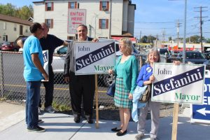 John Stefanini and supporters
