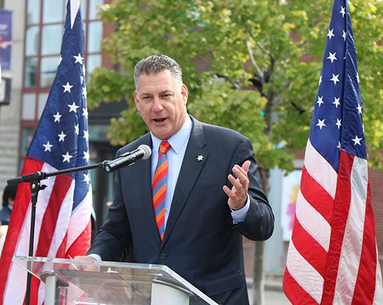 Sheriff Koutoujian Helps To Welcome New Citizens