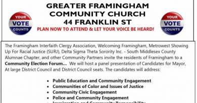 5 Things You Need To Know Today in Framingham: Thursday, October 19