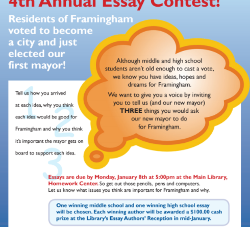 homework center announces th annual essay contest framingham source homework center announces 4th annual essay contest