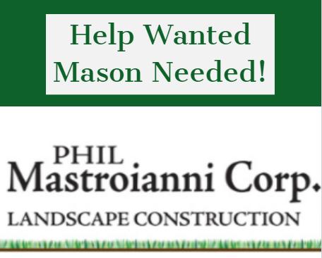 Help Wanted: Mason Needed