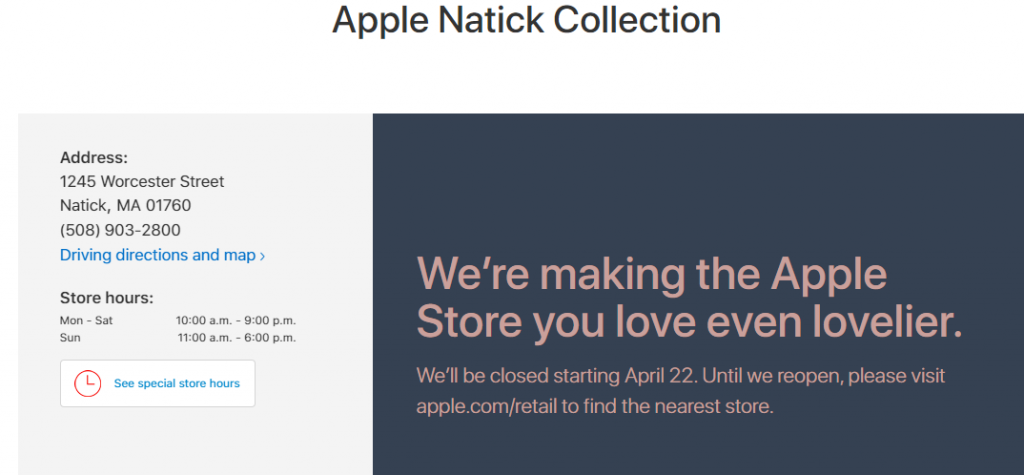 Updated Apple Store In Natick Mall Closing But Just Temporarily