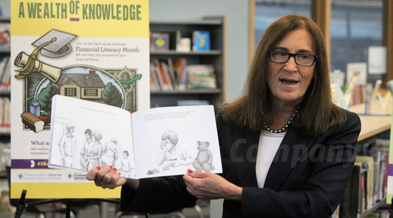 PHOTOS: State Treasurer Reads To Kids at McAuliffe Library For National Financial Literacy Month