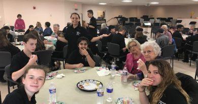 PHOTOS: Cameron Students Perform Concert, Serve Lunch at Callahan Center