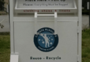 6th Grade Expedition Leads To Textile Recycling Bin at McAuliffe Charter School