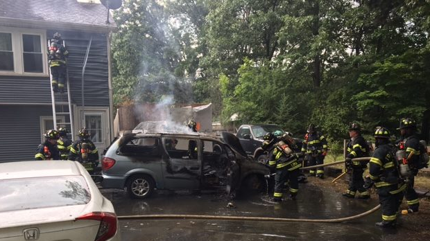 UPDATED: Framingham Extinguishes Vehicle Fire