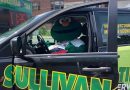PHOTOS: Wally The Green Monster Visits Framingham, Sullivan Tire, and Police Officers