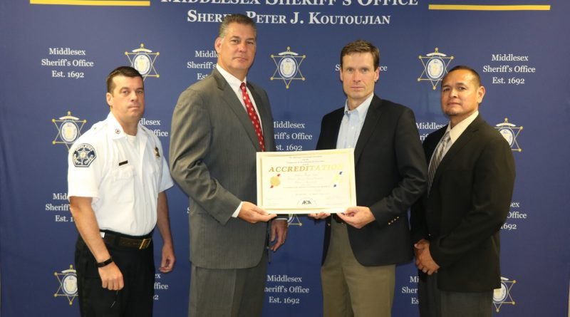 Middlesex Sheriff's Office Receives 100 Percent Compliance in Accreditation By The American Correctional Association