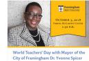 Framingham Mayor Guest Speaker on World Teachers Day