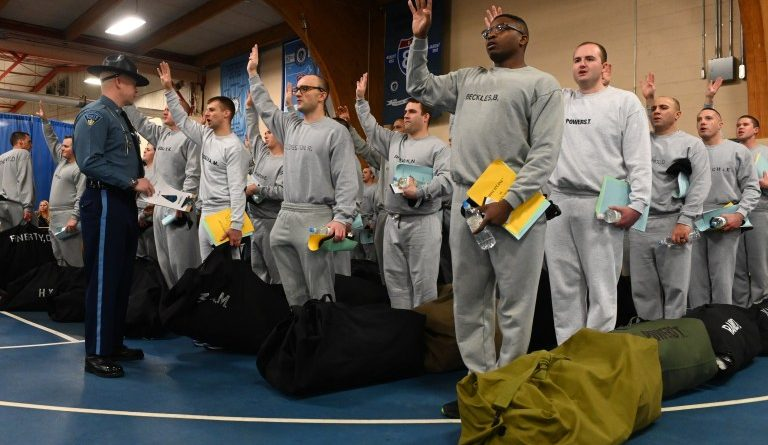 204 Mass State Police  Recruits Begin 23 Weeks of Training at State Police Academy