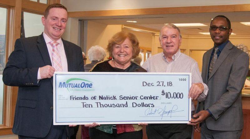 MutualOne Grants $10,000 To Friends of Natick Senior Center