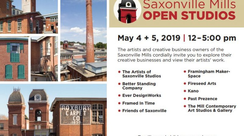 Saxonville Mills To Host 2nd Annual Spring Open Studios