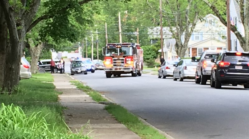 Police and Fire At Serious Crash on Grant/Mansfield Streets