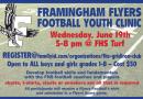 Register For Framingham Youth Football Clinic on June 19