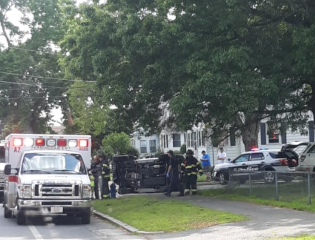 UPDATED: Jeep Rolls Over in Crash at Grant and Mansfield Streets