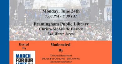 March For Our Lives MetroWest Hosting Gun Violence Prevention Forum