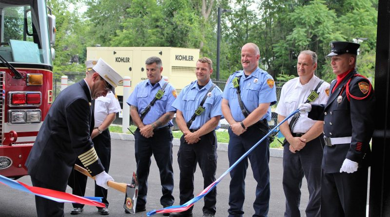 Photo of the Day: Ax-Citing Ribbon Cutting For New Saxonville Fire Station