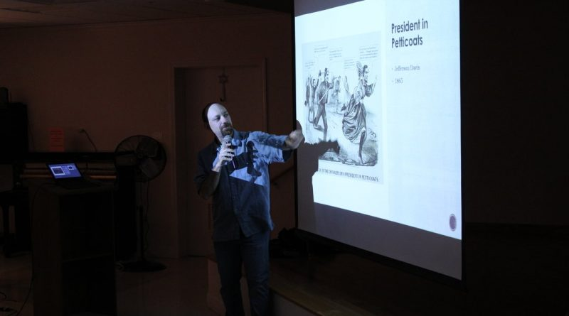 PHOTOS: Paolo Di Gregorio Presents on Political Cartoons at Callahan Center