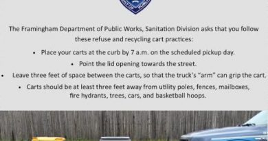 FRAMINGHAM RECYCLES: Space Your Cart!