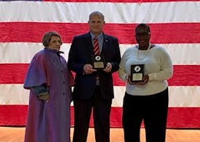 Framingham Mayor Spicer and Jon Fetherston of All Politics is Local Win Nor'easter Award for Best Talk Show