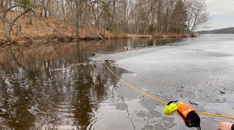 UPDATED: Firefighters Rescue Dog & Owner Who Fall Through Ice