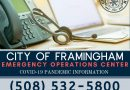 City of Framingham Opens Emergency Operations Center Today For COVID-19