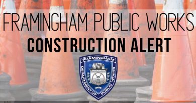 Traffic Alert: Road Construction in Framingham Week of October 18, 2021