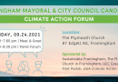 Framingham Mayoral & City Councilors To Participate in Climate Action Forum September 24
