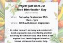 Project Just Because Distributing Food on Saturday