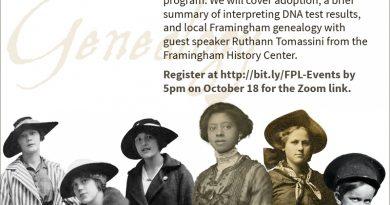 Framingham Library Hosting Advanced Genealogy Program