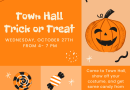 Trick or Treat at Ashland Town Hall on October 27